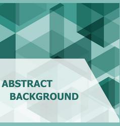 abstract green hexagon template background vector image vector image