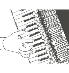accordeon vector image vector image