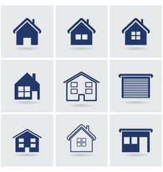 icons houses vector image vector image