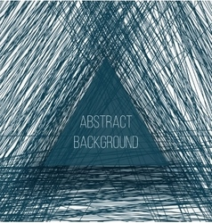 Abstract blue chaotic sketch lines background and vector image