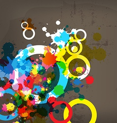Abstract colorful design on grunge background vector