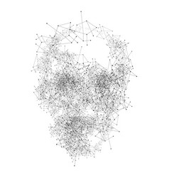 abstract geometric polygonal skull isolated vector image