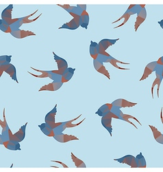 Abstract seamless with swallows vector image vector image