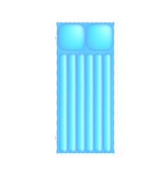 Air mattress in light blue design vector