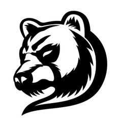 angry bear sign vector image