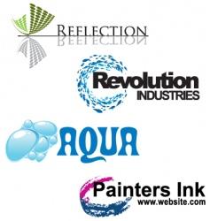 Artistic logos vector