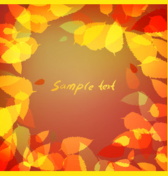 background of red and orange leaves vector image