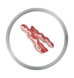 Bacon icon in cartoon style isolated on white vector