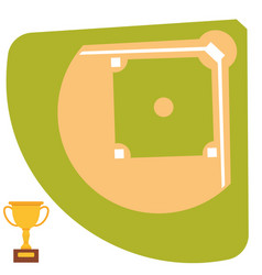 Baseball field cartoon icon batting design vector