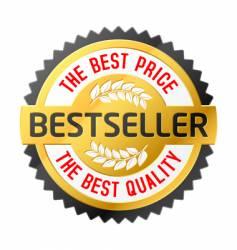 Bestseller emblem vector