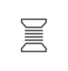 Bobbin thread line icon vector
