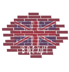 Brexit concept with United Kingdom flag on the vector