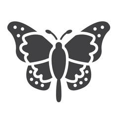 butterfly glyph icon easter and holiday vector image