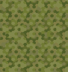Camouflage geometric hexagon background seamless vector image