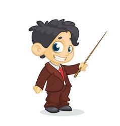 cartoon little boy presents vector image vector image