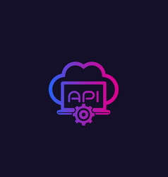 cloud api icon vector image