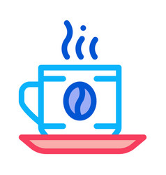 coffee cup drink icon outline vector image