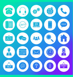 contact circle solid icons vector image