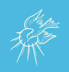 dove holyspirit flying vector image
