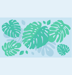 Exotic leaves pattern vector