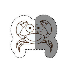 Figure happy crab cartoon icon vector