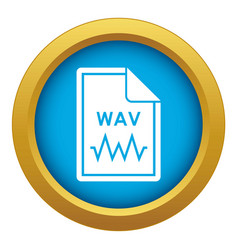 File wav icon blue isolated vector