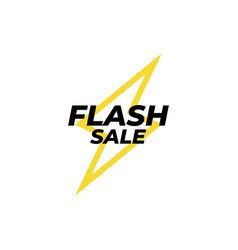 Flash sale banner icon design template isolated vector