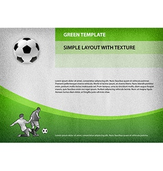 Football template green curve vector
