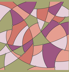 geometric background in shades of pink vector image