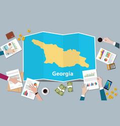 Georgia economy country growth nation team vector