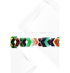 Glass glossy arrow motion background vector image