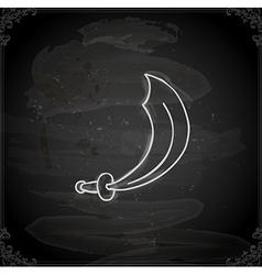 Hand Drawn Machete vector image