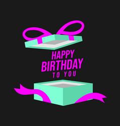 Happy birthday design card vector