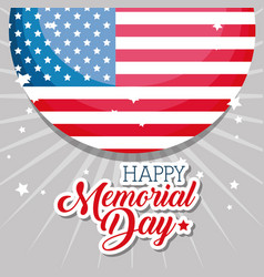happy memorial day with flag vector image