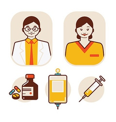 health care and medical staff vector image