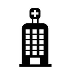 hospital building isolated icon design vector image