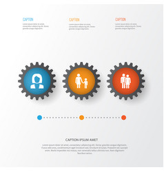 Human icons set collection of family vector