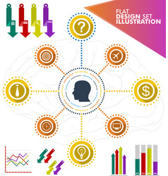idea infographic business set vector image
