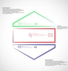 Infographic template with hexagon shape divided to vector