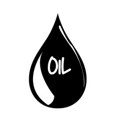 Isolated oil drop vector