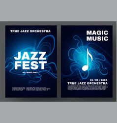 jazz fest party and show poster template vector image