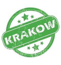 Krakow green stamp vector
