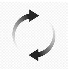 loading arrows icon vector image