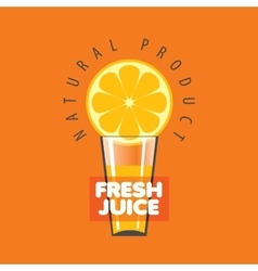 logo of fresh juice vector image