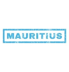Mauritius Rubber Stamp vector image