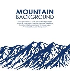 Mountain range isolated on white background vector