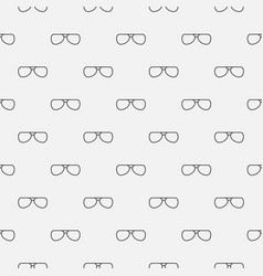 Outline glasses seamless pattern vector