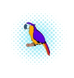 Parrot icon comics style vector image