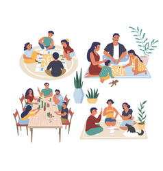 people playing board games vector image