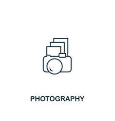 photography icon thin outline style design from vector image